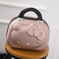 ใหม่ Kitty กล่องเครื่องสำอางค์14นิ้วกล่องแต่งน้ำเพื่อความงามกระเป๋าเดินทางใส่ของสัมภาระกระเป๋า Organizer กระเป๋าเดินทางการ์ตูน