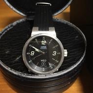 二手 豪利時 ORIS TT2 盤徑42MM  機械腕錶/機械錶  橡皮錶帶