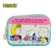 【日本正版】史努比 帆布 零錢包 卡片包 Snoopy PEANUTS - 294463