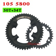 SHIMANO 105 5800 Chainring 22 Speed Road Bike Bicycle 110BCD 34T 50TTooth Road Bike For 5800 Crankset
