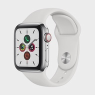APPLE Watch Series 5 GPS+Cellular (40mm, Stainless Steel Case, White Sport Band)