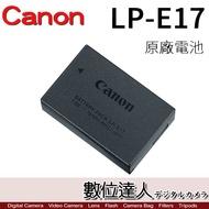 Canon LPE17 LP-E17 盒裝 原廠電池 / EOS RP EOSM6 200D 800D 77D 數位達人