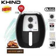Khind ARF77 XXL LARGE 7.7L Air Fryer/Turbo Air Fryer ARF26/ARF3000 with Digital Display 3L/Air fryer Oven 9.5L ARF9500