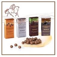 GODIVA 比利時 頂級巧克力 珍珠鐵盒裝 巧克力豆 黑巧/牛奶/白巧/薄荷 口味 現貨供