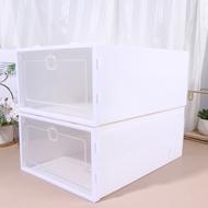 6pcsกล่องลิ้นชักกล่องรองเท้าThickenโปร่งใสรองเท้าOrganizerฝุ่นหลักฐานกล่อง (สีขาว,สุ่มสีกรอบ)