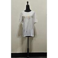 九成九新~ 英國品牌 KENT & CURWEN 白色胸前鑲賺 短袖 棉 T恤