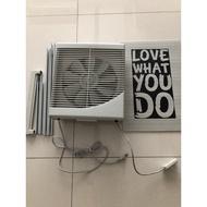 運費我出二手八成新【永用牌】台灣製10吋室內窗型靜音吸排風扇FC-1012 10吋排風扇超薄不佔空間可關窗