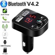 Car Cigar Plug Bluetooth 5.0 FM Transmitter MP3 Player Radio Adapter USB Charger