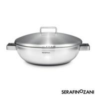 【SERAFINO ZANI 尚尼】MILAN系列雙耳不鏽鋼炒鍋36cm