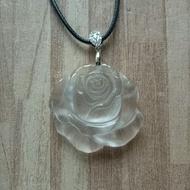 【臻品翡翠】天然玫瑰花水沫子