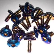 Screw Fender Bolt Titanium Per Pieces