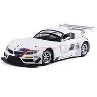 ●熱賣●彩珀成真車模1:24寶馬Z4 GT3 運動型賽車 合金聲光模型兒童玩具車