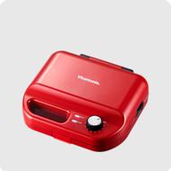 小倉家 Vitantonio VWH-50 VWH-500-LS VWH-500B VWH-50B-R VWH-50B 鬆餅機 可定時 自動斷電 內附帕尼尼 方格 烤盤