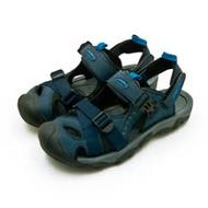 【男】LOTTO 專業護趾戶外運動涼鞋 水陸悍將系列 藍黑灰 0186