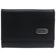 BURBERRY 扣式卡夾零錢包9X7CM-黑色