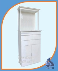 Altar Cabinet with Head Top + LED Light + Glass Top - T132348 (Modular Design)