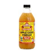 น้ำส้มสายชูหมักจากแอปเปิ้ล Bragg Organic Raw Apple Cider Vinegar 473 มล.