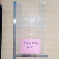 Plastic bag/zip lock plastic bag 50pcs PP Singlet Bag 18 x 22 inch/ Plastic Bag Bertangkai Jernih Transparent Lutsinar /