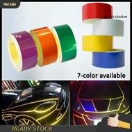 MWWB 5Mx2cm Car Vehicle Body DIY Self-Adhesive Reflective Sticker Warning Strip Decal