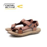 camel active Men Brown Vokes Double Strap Sandals 891902-FC3PSV-3-BROWN