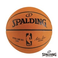 【SPALDING】SPALDING 斯伯丁 NBA真皮比賽用球 籃球(7號)
