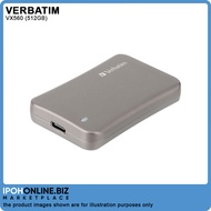Verbatim Vx560 512GB SSD USB 3.1 External Solid State Drive - Perfect For 4K Video   Ipohonline