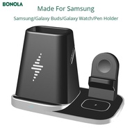 4 In1 Multifunctional Wireless Charger For Samsung S20/S10/Galaxy Watch/Galaxy Buds/Pen Holder Modular USB Watch Charger