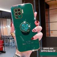 Casing Ponsel OPPO Reno 5F / OPPO A94 2021 5G, Pelindung Belakang TPU Lunak Lapis Listrik OPPO Reno5 F / OPPO A94 2021 5G