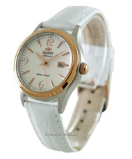 Orient Automatic Women's White Leather Strap Watch NR1Q003W0