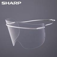 鈦合金輕量系列【SHARP夏普】奈米蛾眼科技防護面罩/眼部專用(組)