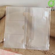 <<詢問客服>>中號【PVC收納袋】標準款真皮本--適用 記事本PVC拉鏈票據袋