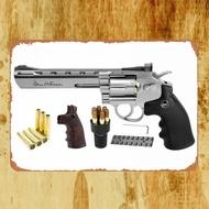 錫金屬 Dan Wesson CO2 BB左輪手槍 槍標誌牆槍繪畫海報