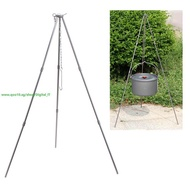 Outdoor Cooking Tripod for Camping Picnic with Storage Bag