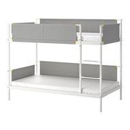IKEA VITVAL 上下舖床框, 白色/淺灰色