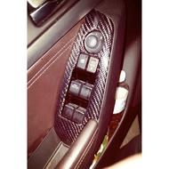 2017年魂動馬3 MAZDA 3 新馬3內裝門板電動窗開關真空卡夢碳纖維飾板