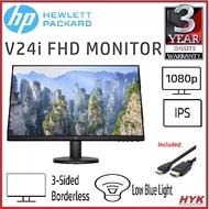 """[Shop Malaysia] HP V24i FHD IPS LED Monitor with HDMI Cable (23.8"""")"""
