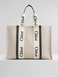 Beauty Genie 國際精品* CHLOE Woody Tote Medium (棕色/黑色) 手提包/肩背包/托特包✨