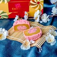 CHOCOELF Sugar-Free Lotus Strawberry Chia Truffle Yolk Snowskin Mooncake