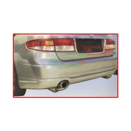 Honda Accord SDA 7th Gen (2004 Model ONLY) Rear Back Skirt Bumper Lower Double Exhaust PU Bodykit - Raw Material Rubber