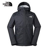 The North Face北面男款黑色防風防水衝鋒衣|3VPKAYH