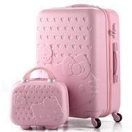 🎀免運❤️Hello kitty母子箱👩👧送箱套+貼紙❤️14-28Suitcase✨Hellokitty行李箱