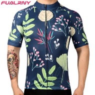 FUALRNY 2017 Flour Green Breathable Cycling Jersey Summer MTB Bicycle Clothing Ropa Ciclista MTB Bike Clothes