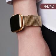 【王者之風】Apple watch 米蘭式 橢圓扣 錶帶 不鏽鋼 磁力吸附 1/2/3/4/5代(44mm/42mm  限量加贈 手錶支架)