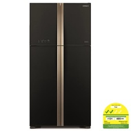 Hitachi R-W635P4MS-GBK 510L Big French 4 Door Fridge