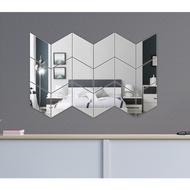 (20 Grams) Acrylic DIAMOND Wall Glass Import Wall Stickers Mirror Wallpaper Mirror