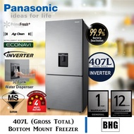 Panasonic 407L 2-Door Bottom Mount Freezer | NR-BX410WPMY, NR-BX410WP (Fridge,Refrigerator,Peti Sejuk,Peti Ais,电冰箱)
