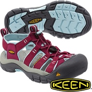 KEEN 女專業戶外護趾涼鞋NewPort H2 -1012867酒紅/粉藍