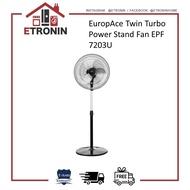 EuropAce Twin Turbo Power Stand Fan EPF 7203U