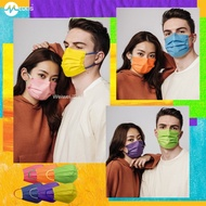 X4卐┋Korea imported MYDAYS adult flat Medeis masks personality three-layer fashion printing color stars the same style