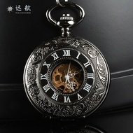 Fully Automatic Analog watch watches New Style Pocket watch watches Vintage Flip Varved Quality Mechanical Pocket watch watches Men And Women Students Necklace Pocket watch watches